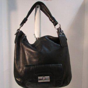Coach Kristin Black Leather Hobo Shoulder Bag